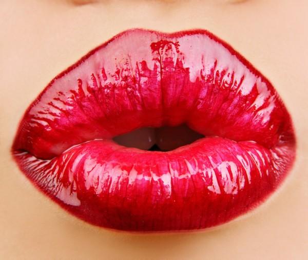 Секс красивыми красными губами накрашенными порно 7 фотография
